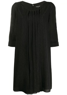 Armani slit sleeve shift dress