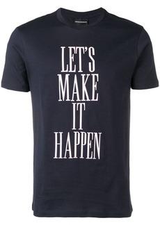 Armani slogan print T-shirt