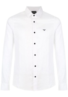 Armani small embroidered logo shirt