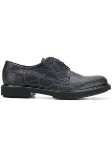 Armani snake print lace-up shoes