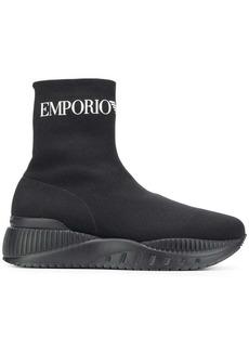 Armani sock hi-top sneakers