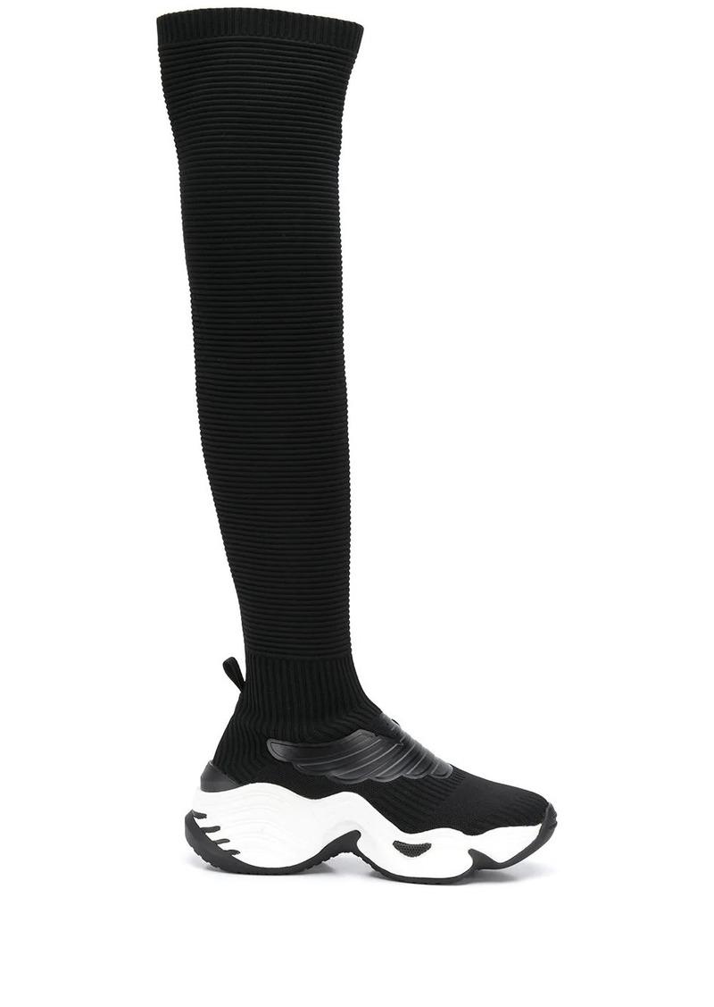 Armani sock-style high trainers
