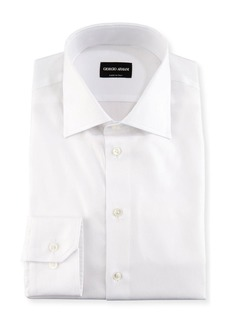 Armani Solid Cotton Dress Shirt  White