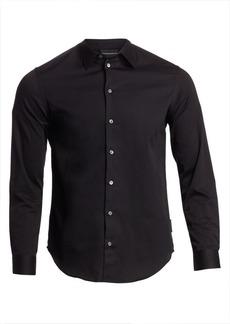 Armani Solid Jacquard Woven Shirt