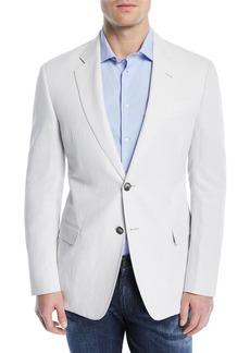 Armani Solid Lyocell/Linen Weave Soft Jacket
