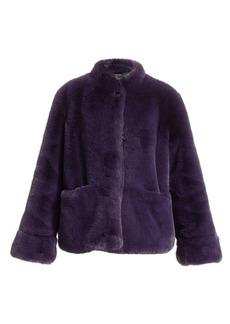 Armani Stand Collar Faux-Fur Jacket