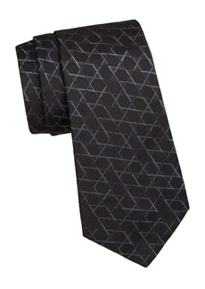 Armani Star Pattern Silk Tie