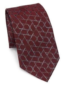 Armani Star-Print Silk Tie