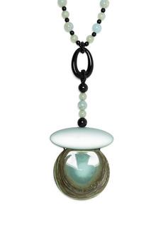 Armani statement pendant beaded necklace