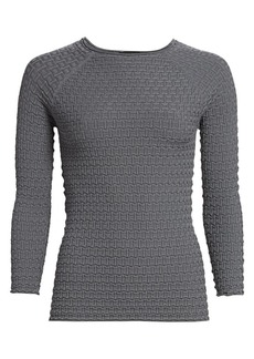 Armani Stitch Bracelet-Sleeve Top
