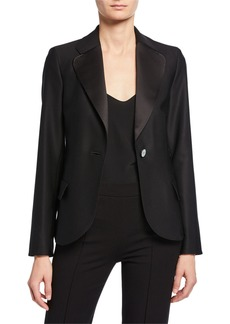 Armani Stitched One-Button Blazer