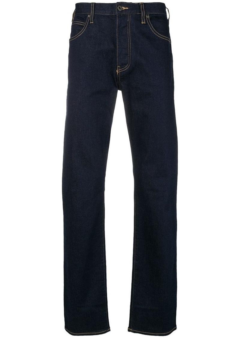 Armani mid-rise straight jeans