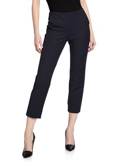 Armani Straight-Leg Cotton-Stretch Pants