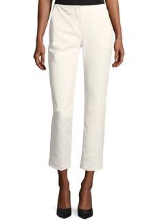 Armani Straight-Leg Cropped Cotton-Blend Pants