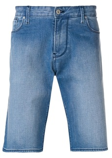 Armani straight leg denim shorts
