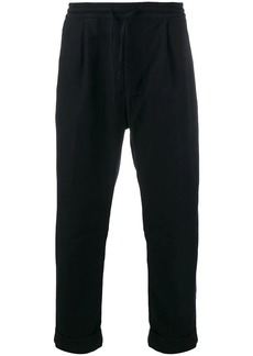 Armani straight-leg drawstring trousers
