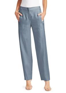 Armani Straight-Leg Linen Pants