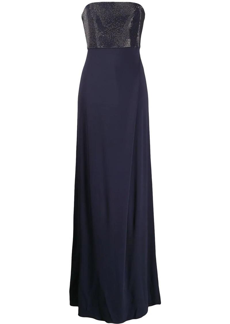 Armani strapless maxi dress