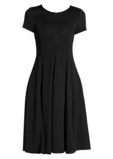 Armani Stretch Cap Sleeve A-Line Dress
