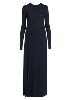 Armani Stretch Jersey Drape Detail Gown