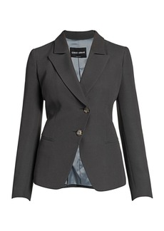 Armani Viscose Cady Asymmetrical Single Breasted Jacket