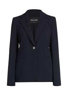 Armani Stretch Wool Single Breasted Jacket
