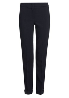 Armani Stretch Wool Slim Pants With Cuff