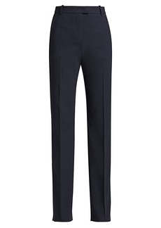 Armani Stretch-Wool Straight-Leg Pants