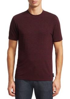 Armani Stripe Crewneck T-Shirt
