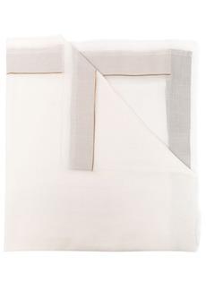 Armani stripe-detail scarf