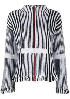 Armani stripe knit jumper