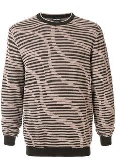 Armani stripe knitted jumper