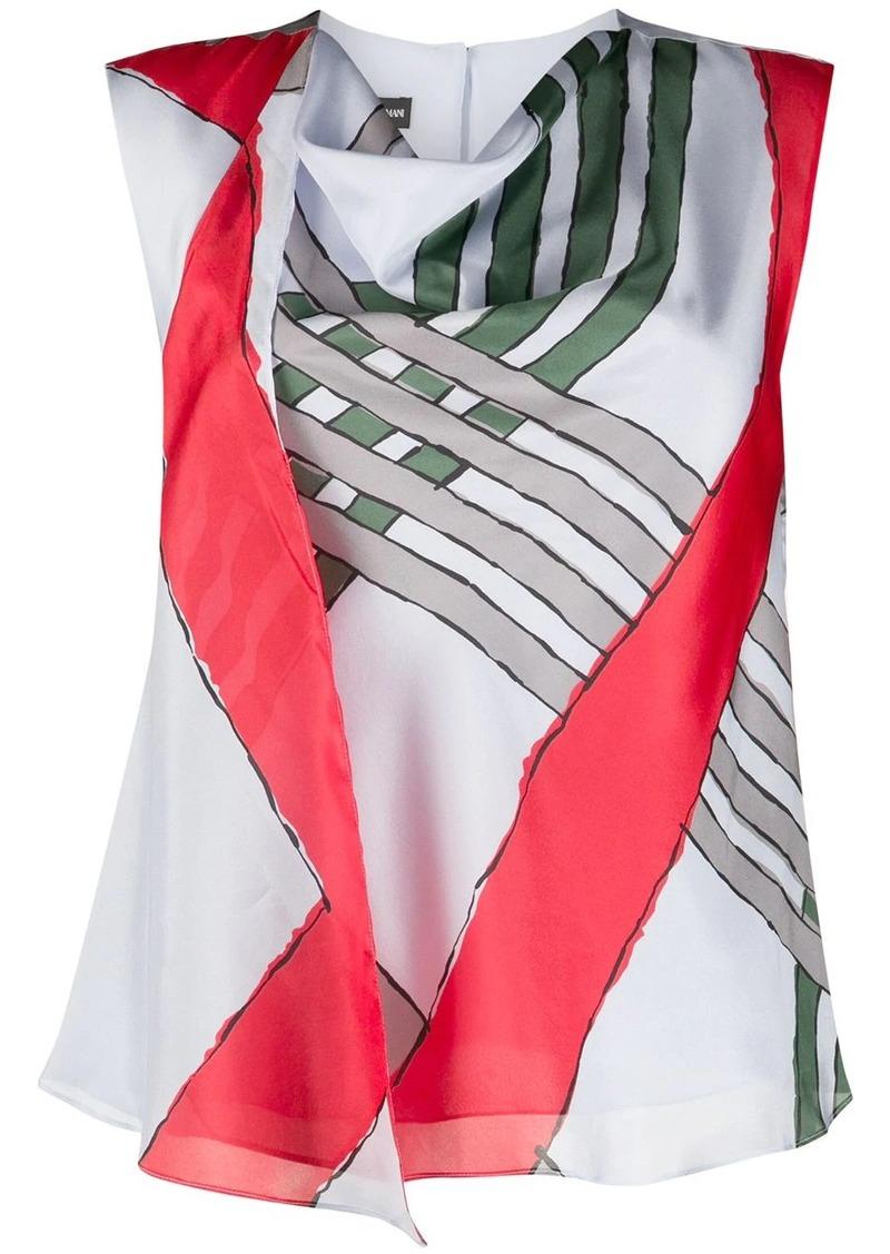 Armani stripe print blouse