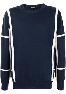 Armani stripe-print knitted jumper