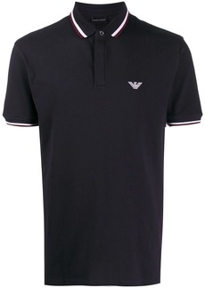 Armani stripe trim polo shirt