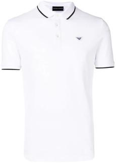 Armani stripe-trimmed polo shirt