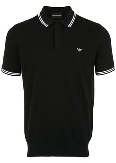 Armani stripe-trimmed polo shirt