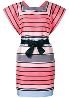 Armani striped belted dress