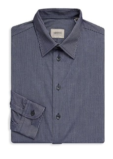 Armani Striped Casual Button-Down Shirt