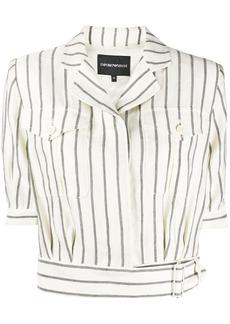 Armani striped cropped shirt