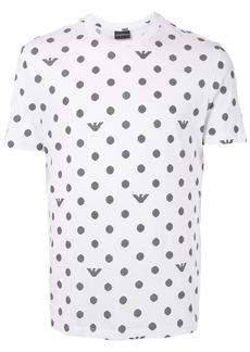 Armani striped dot print T-shirt