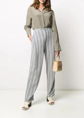 Armani striped herringbone trousers