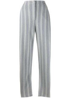 Armani striped herringbone trousers