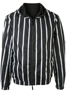 Armani striped hooded jacket