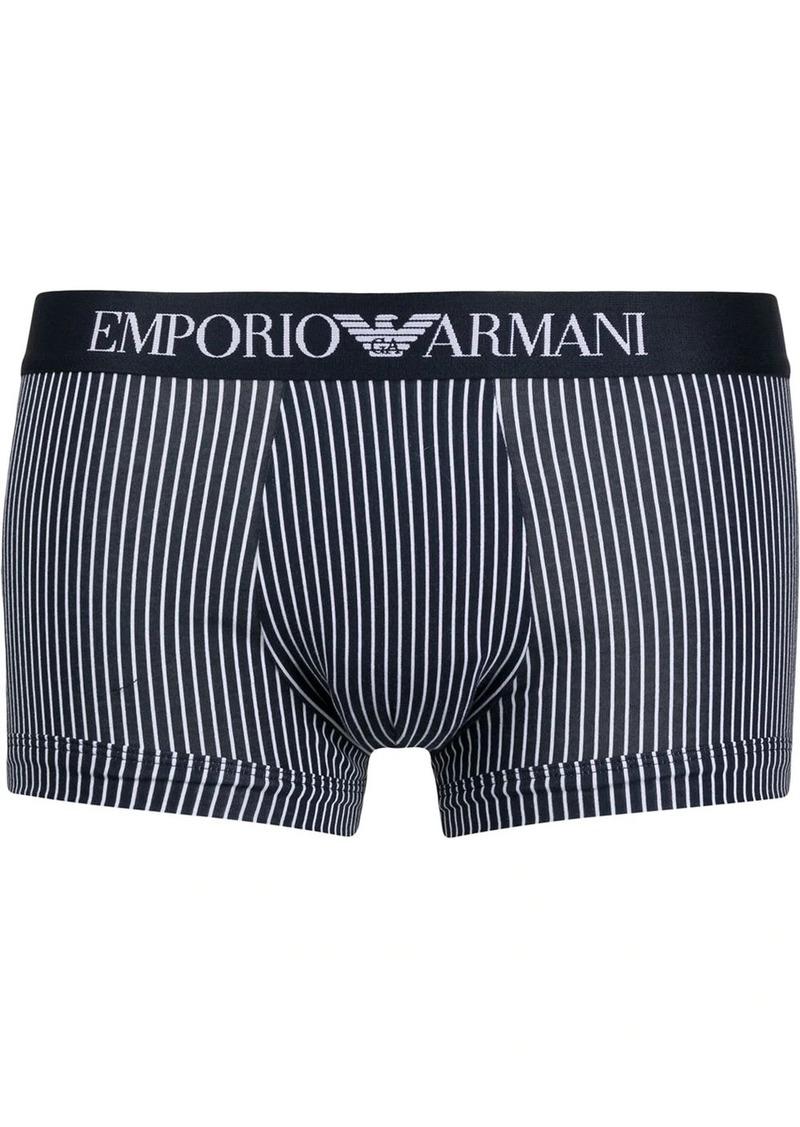 Armani striped logo briefs