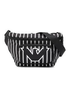 Armani striped logo print belt bag