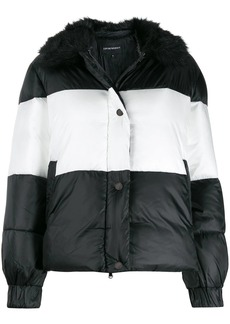 Armani striped padded jacket