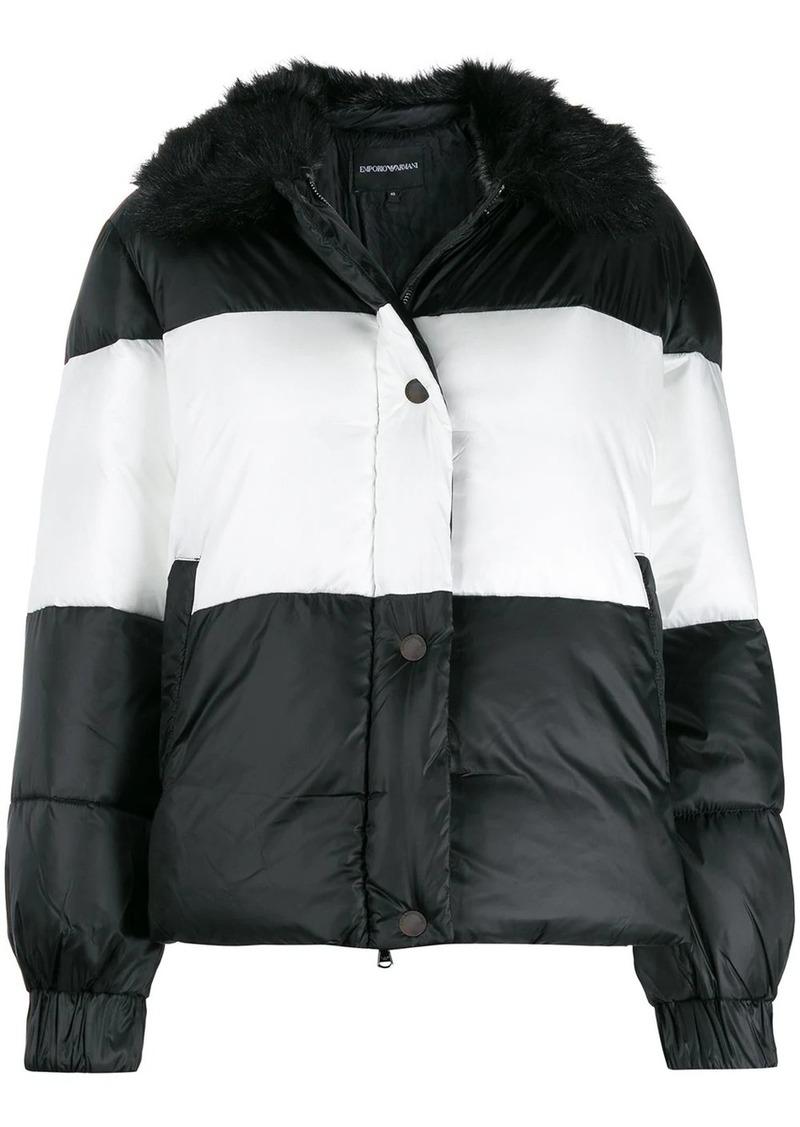 Armani striped padded jacket
