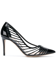 Armani striped pointed pumps