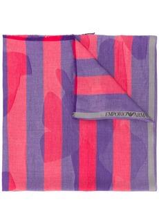 Armani striped print scarf